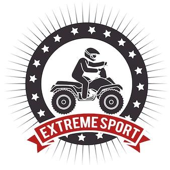 Atv extreme sport label design