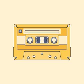 Audio kasety taśmy linii minimalnego stylu wektoru ilustracja