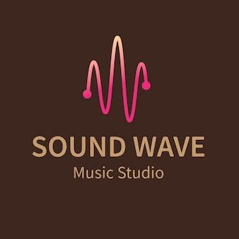 Audiowizualny szablon logo firmy, wektor projektu marki