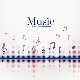 Audo muzyczne bije dźwięk tła fest