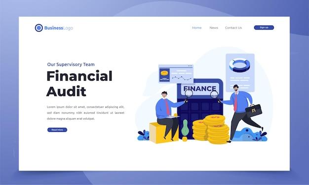 Audyt finansowy firmy na stronie docelowej