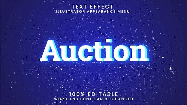 Aukcyjny edytowalny świecący szablon stylu efektu tekstu