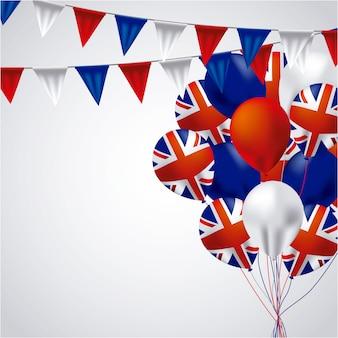 Australia balony z flagą