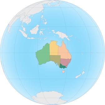 Australia jest suwerennym krajem składającym się z kontynentu australijskiego, wyspy tasmanii i wielu mniejszych wysp