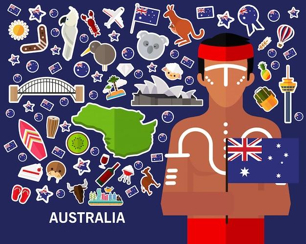 Australia koncepcji tła