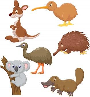Australijska zwierzęca kreskówka