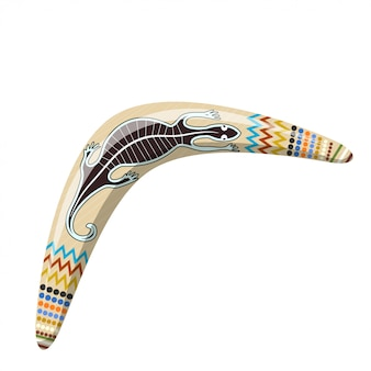 Australijski bumerang. bumerang kreskówka tribal