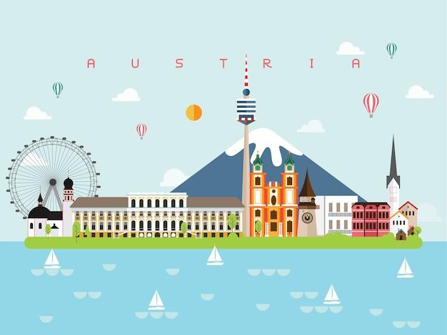 Austria słynne zabytki