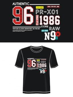 Autentyczna 96 typografia do koszulki z nadrukiem