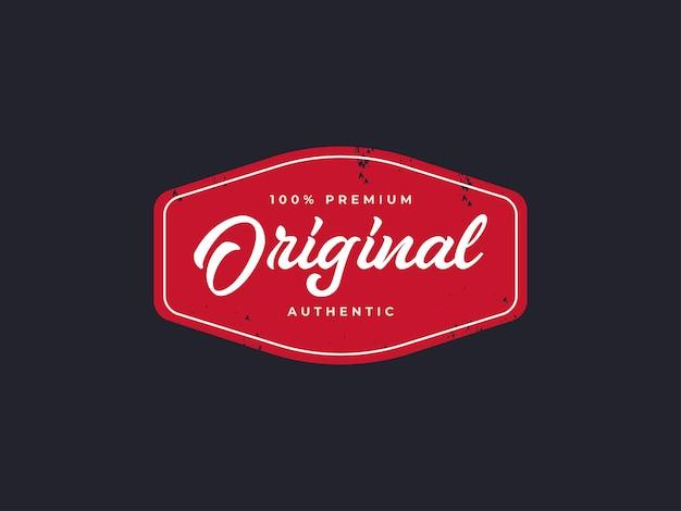 Autentyczna koncepcja projektowania etykiet odznak