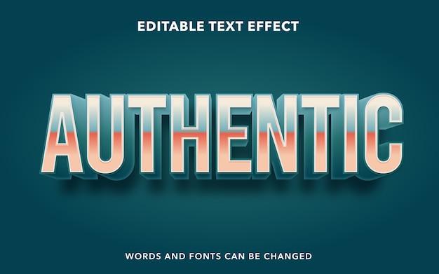 Autentyczny tekst edytowalny styl efektu tekstu