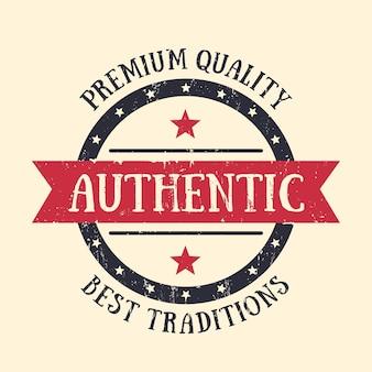 Autentyczny vintage godło, odznaka, etykieta