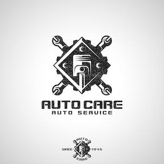 Auto care - logo serwisu samochodowego