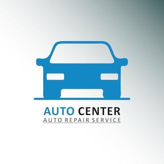 Auto center auto naprawa samochodów szare i białe tło