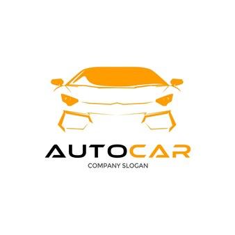 Auto samochód logo projekt z koncepcją sylwetka pojazdu sportowego