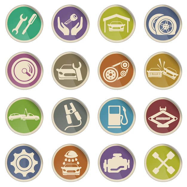 Auto service vector ikony www