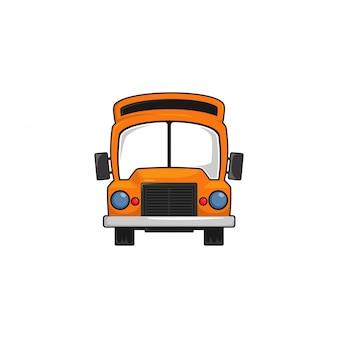 Autobus szkolny dzieci jadące żółty transport