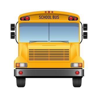 Autobus szkolny ilustracja na białym tle