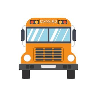 Autobus szkolny na białym tle