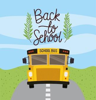 Autobus szkolny na drodze
