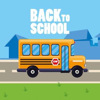 Autobus szkolny na ulicy