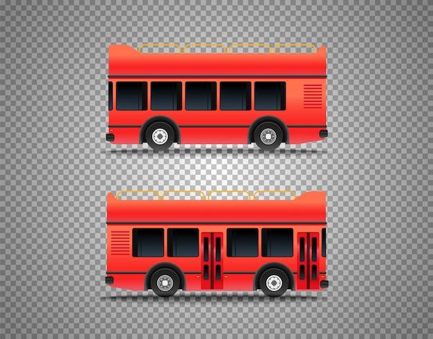 Autobus turystyczny na przezroczystym tle