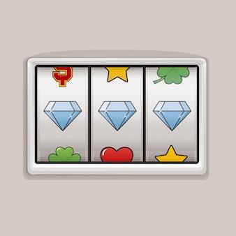 Automat do gier jackpot ikony wektoru pojęcie