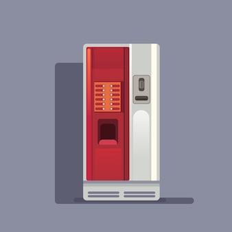 Automat do kawy realistyczny na szaro
