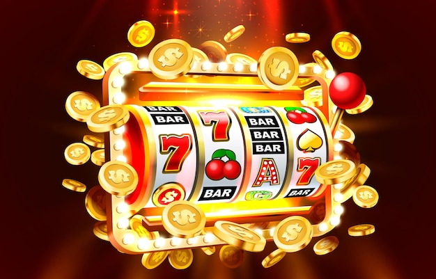 Automaty do gry baner złote monety jackpot kasyno d pokrywa wektor automatów do gry
