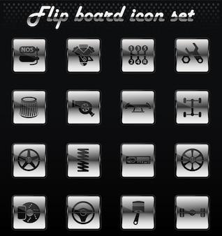 Automatyczne dostrajanie wektorowe ikony mechaniczne odwracania do projektowania interfejsu użytkownika