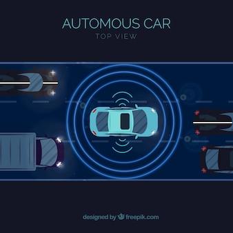 Autonomiczna koncepcja samochodu z płaską konstrukcją