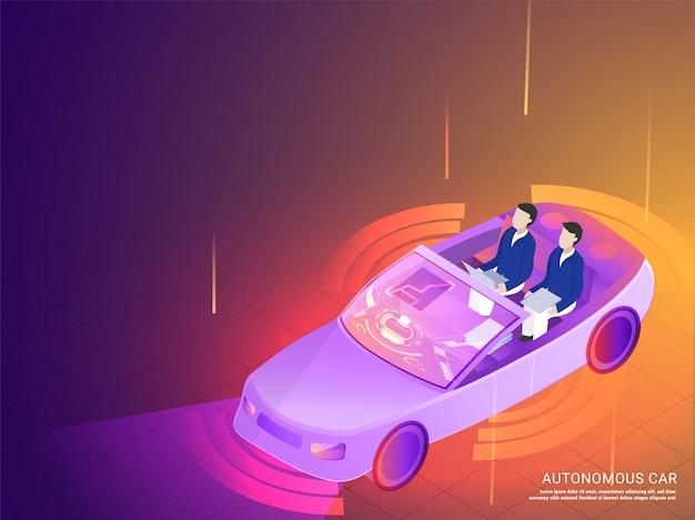 Autonomiczny samochód responsywny szablon strony internetowej.