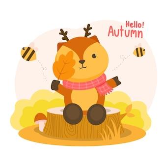Autumm był zadowolony z jelenia trzymającego gałęzie na pniakach i latających pszczół.