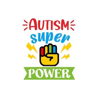 Autyzm cytuje napis wektor svg