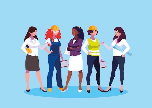 Avatar inżynier kreskówek dla kobiet