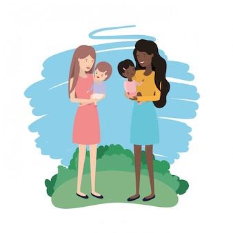 Avatar kobiet z dziećmi