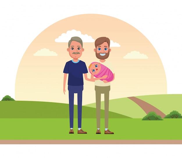 Avatar rodziny portret postać z kreskówki