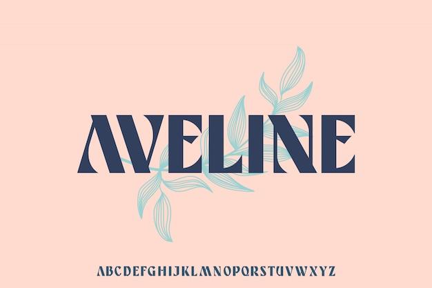 Aveline, luksusowa elegancka czcionka serif reprezentuje przepych i ekskluzywność