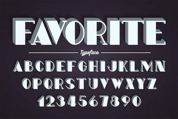 Awangarda wektor ozdobny pogrubiony projekt czcionki, alfabet