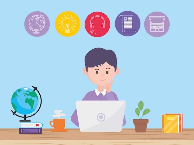 Awatar człowiek i nauka online