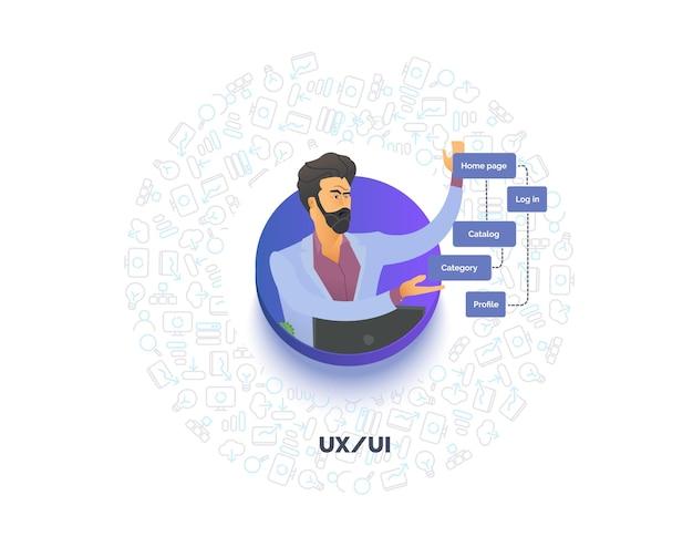 Awatar interfejsu użytkownika doświadczenia użytkownika