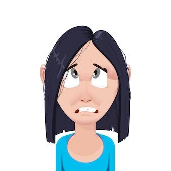 Awatar postaci z kreskówki kobieta