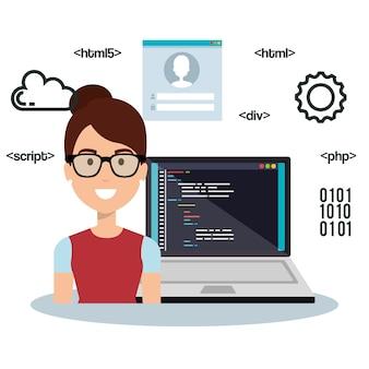 Awatar programisty języka programowania