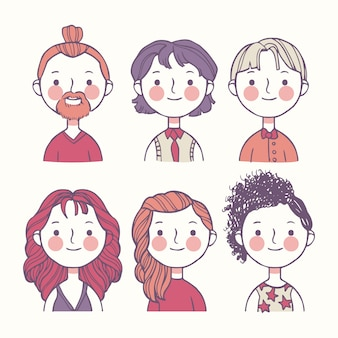 Awatary kolorowych ludzi