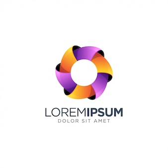 Awesome letter o logo