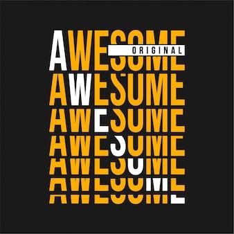 Awesome - typografia