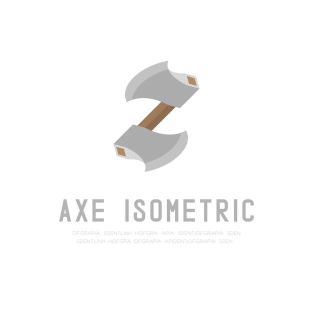 Axe 3d izometryczny projekt wirtualny ilustracja
