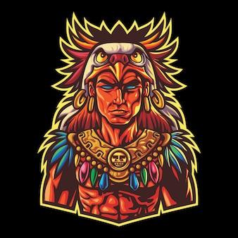 Aztec tribal warrior esport