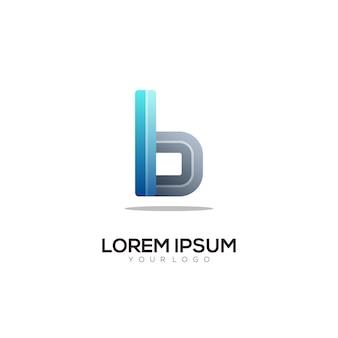 B list logo kolorowa ilustracja gradientowa