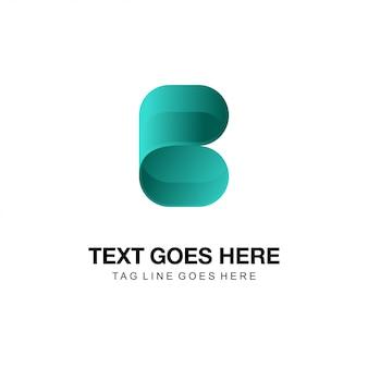 B nowoczesne streszczenie logo
